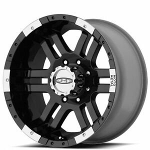 4 Set 17 Moto Metal Wheels Mo951 Black Machined Off Road Rims Ad