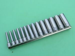 Snap On 112stmmy 2 14 Pc Deep Metric Socket Set Stmm4 Stmm15 4mm 15mm
