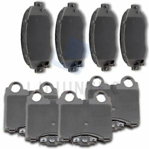 Front Rear Ceramic Discs Brake Pads For 1998 1999 2000 2001 2005 Lexus Gs300