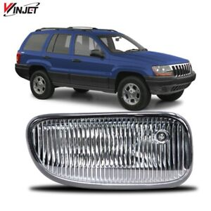 Fit 99 03 Jeep Grand Cherokee Rh Passenger Side Fog Light Replacement Clear Lens