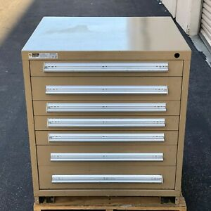 Stanley Vidmar 7 Drawer Storage Tool Cabinet 33 High X 30 Wide X 28 Deep