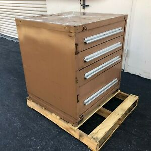 Stanley Vidmar 4 Drawer Storage Tool Cabinet 33 High X 30 Wide X 28 Deep