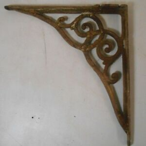 Vintage Cast Iron Bracket Ornate Scrolling