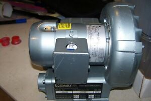 Gast Regenair R1102 Regenerative Vacuum Blower Pump Ring Compressor Works Great