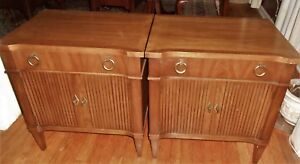 Set 2 Drexel Veneto Night Stands 1963 Mid Century Modern Furniture Italian