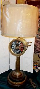 Rare J W Ray And Co Antique Brass Ship S Telegraph Liverpool 42 Tall Lamp