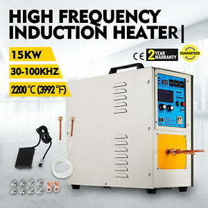 15kw 30 100 Khz High Frequency Induction Heater Furnace Heat Source Equipment