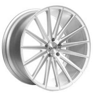 4 new 22 Staggered Azad Wheels Az48 Silver Machined Rims Fs