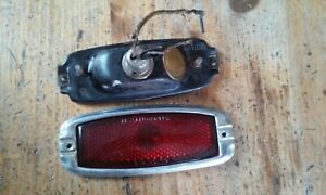 Original 1941 1948 Chevy Tail Light Parts Lens Housing And Bezel