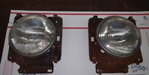 1973 1977 Ford F Series Truck Pair Of Headlights Buckets Support Brackets