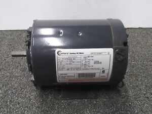 Century Ac Electric Motor 1 6 Hp 3450 Rpm K48z 115v 1ph 7 173184 23 Cont