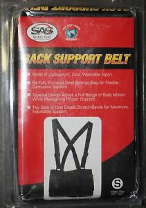 Sas Safety Back Support Belt Size Small 38 47 Deluxe Back Support Belt