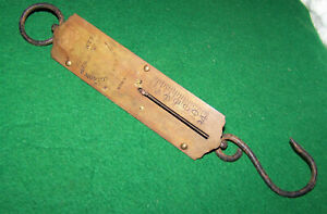 Antique Morton Bremner Brass Spring Scale New York