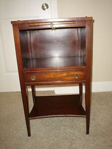 Kindel Oxford Mahogany Telephone Stand Side Table Night Stand Excellent
