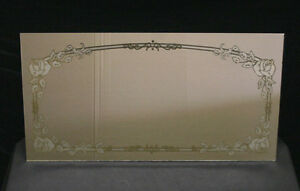 14 X27 Vintage Floral Design Ornate Decorative Etched Glass Mirror Wall Decor