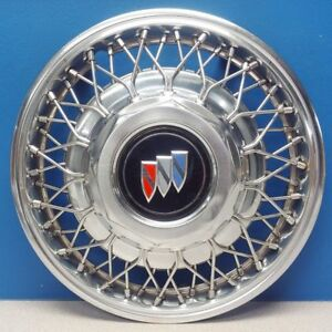 One 1988 1991 Buick Regal 1127 14 Wire Hubcap Wheel Cover Gm 10097502
