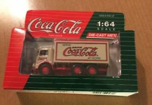 Hartoy Coca-Cola Diecast 1:64 Mack Model CJ Tan and Red Delivery Truck 1991