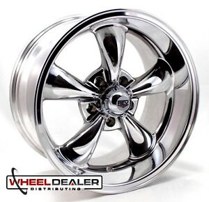 17x8 9 Polished Rev Classic 100 Wheels Rims For Chevy Camaro 5x4 75 1980 1981
