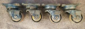 Set 4 Darnell 103tci Heavy Duty Industrial Casters Steel Swivel 3 Wheel 103 Tci