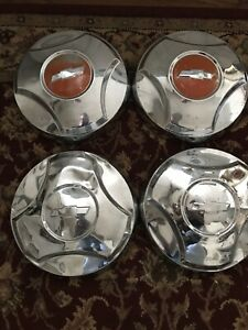 1964 1965 1966 Chevrolet C10 Truck Chrome Dogdish Hubcaps Hub Cap 64 65 66 Chevy