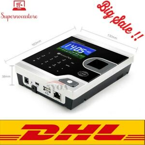 Free Dhl biometric Fingerprint Time Attendance Clock Recorder Employee Digital