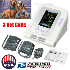 Usa Veterinary Color Lcd Digital Blood Pressure Heart Beat Monitor Nibp 3 Cuffs
