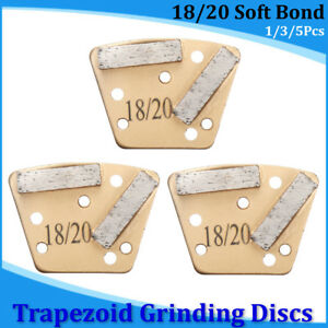 3pcs set Trapezoid Htc Grinding Discs For Bolt On Grinders 18 20 Soft Bond Plate