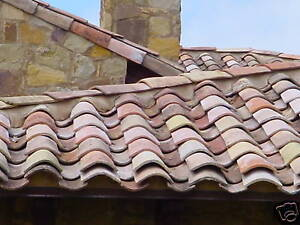 French Antique Clay Roman Roof Tiles Circa 1820 South Of France 10 000 Tiles