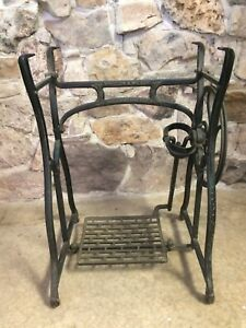 Antique Wheeler Wilson Cast Iron Treadle Sewing Machine Base