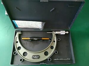 Mitutoyo Micrometer 5 6 0001 Mic 103 182 With Case Standard Wrench
