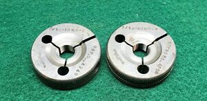 7 16 48 Ns 2 Thread Ring Gages 4375 Go No Go P d s 4240 4206 Free Ship