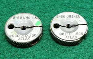 8 60 Uns 2a Thread Ring Gages 8 Go No Go P d s 1501 1525 Free Shipping