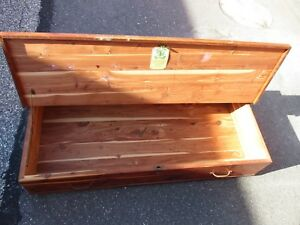 Small Under The Bed Jacob Bloom Antique Vintage Cedar Wood Chest Trunk