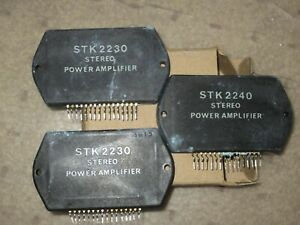 Stk2240 stk2230 Audio Stereo Power Amplifiers 3 Pcs