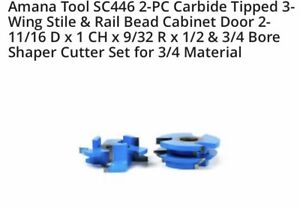 Amana Tool Sc446 Stile And Rail Bead Cabinet Door Cutter Set