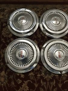 Oldsmobile Dog Dish Style Hubcaps 4 10 5 Inch Caps