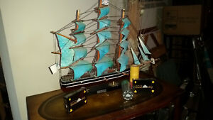 Vintage Cutty Sark 1869 Wooden Model Ship Plus Promotional