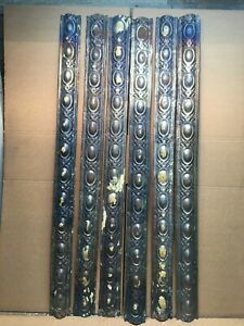 6 Pc Lot Of 48 By 3 5 Antique Ceiling Tin Vintage Reclaimed Salvage Art Craft
