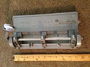 Vintage Wilson Jones Hummer Heavy Duty Industrial Adjustable 3 Hole Punch 314
