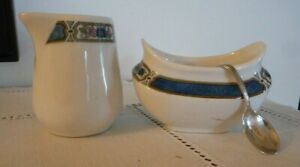 Vintage Lamberton Scammell Cream And Sugar Set With Silver Spoon