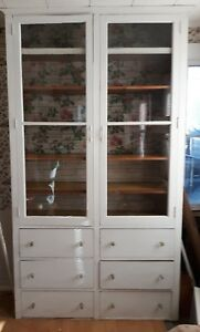 Antique Vintage Hoosier Butler Pantry Kitchen Cabinet Painted We Ship