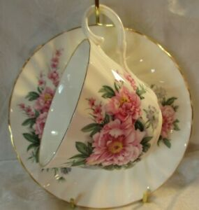 Vintage Allyn Nelson Collection Fine Bone China Tea Cup Saucer Spring Flowers