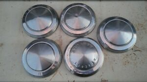 Vintage Ford Mercury Dog Dish Hub Caps Poverty Caps 1960 S Set Of 5