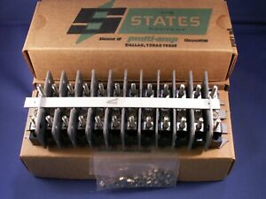 States Terminal Block M25012 12 Point Sliding Link Type Nt 30a 600v Lot Of 3
