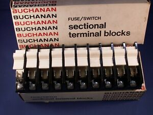 Buchanan Fuse switch 0351 Sectional Terminal Block Dovetail Sections Box Of 10