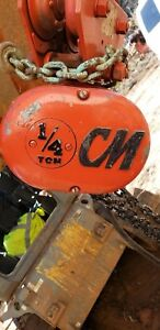 Cm Lodestar 1 4 Ton Electric Hoist 11 Chain Great Condition 2240