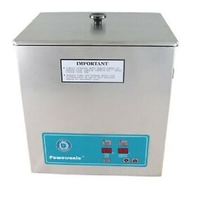 New Crest Powersonic P1100d 132khz Ultrasonic Cleaner Power Control With Basket