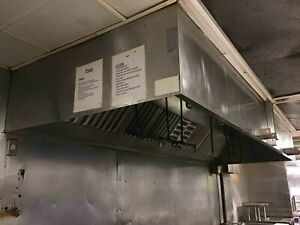 14 Exhaust Hood With Exhaust Fan And Fire Suppression