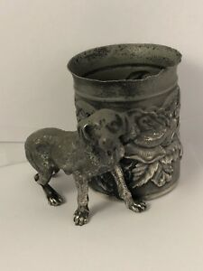 Victorian James W Tufts Boston Silverplate No 3416 Figural Dog Cup 120218bahzie