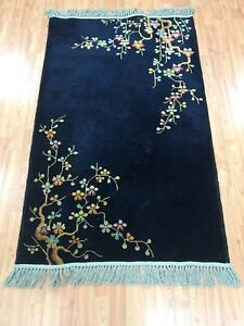 3 X 4 9 Antique Chinese Art Deco Oriental Rug 1930s Hand Made 100 Wool